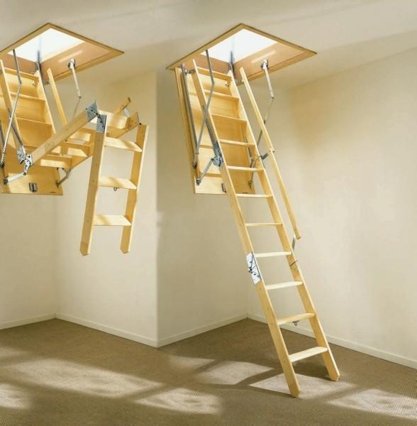 Складная лестница на чердак своими руками