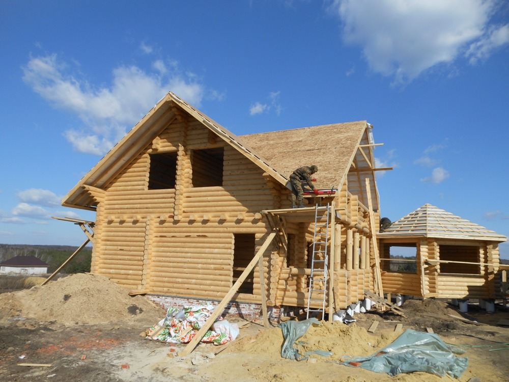 строительство дома из брёвен