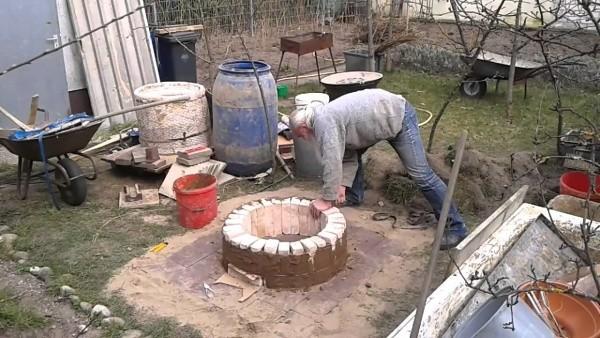 Как сделать тандыр из кирпича своими руками