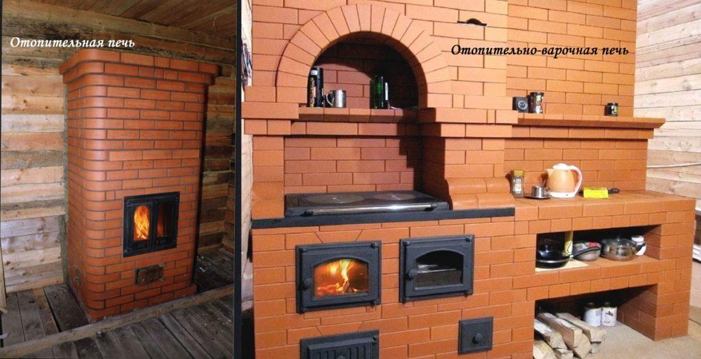 печь в срубе дома Москва