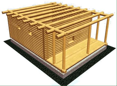 Сборка рубленного дома ручной рубки