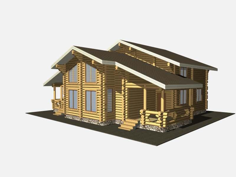 проект дома Приют рыбака 13.4*11 метра изготовление в Вожеге
