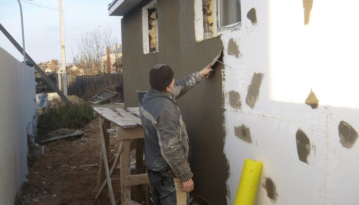 Утепление стен пенопластом своими руками + видео