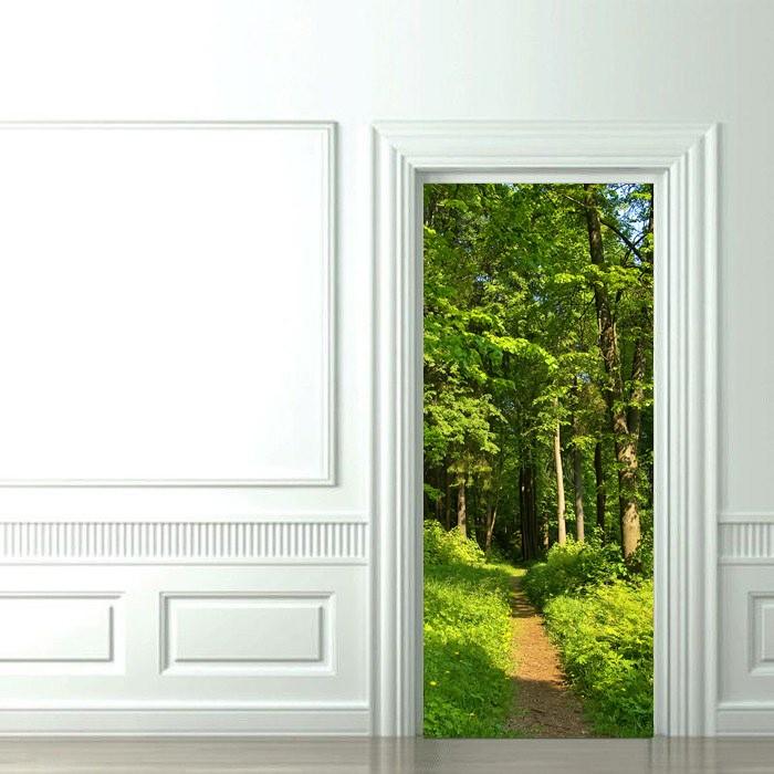Как выбрать фотообои на дверь