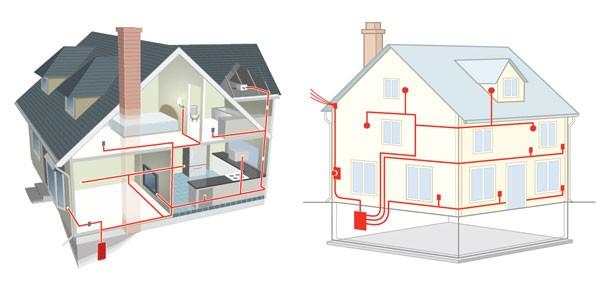 Типовая схема разводки электропроводки в доме