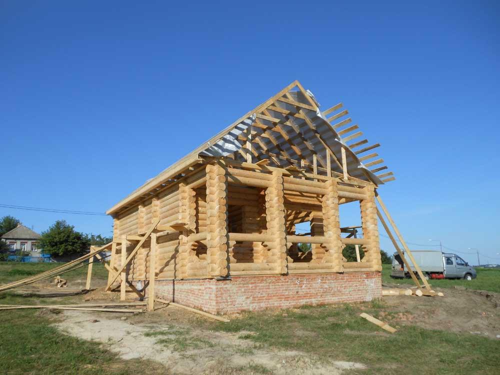 проект бревенчатого дома Зимний метра изготовлен Вожега