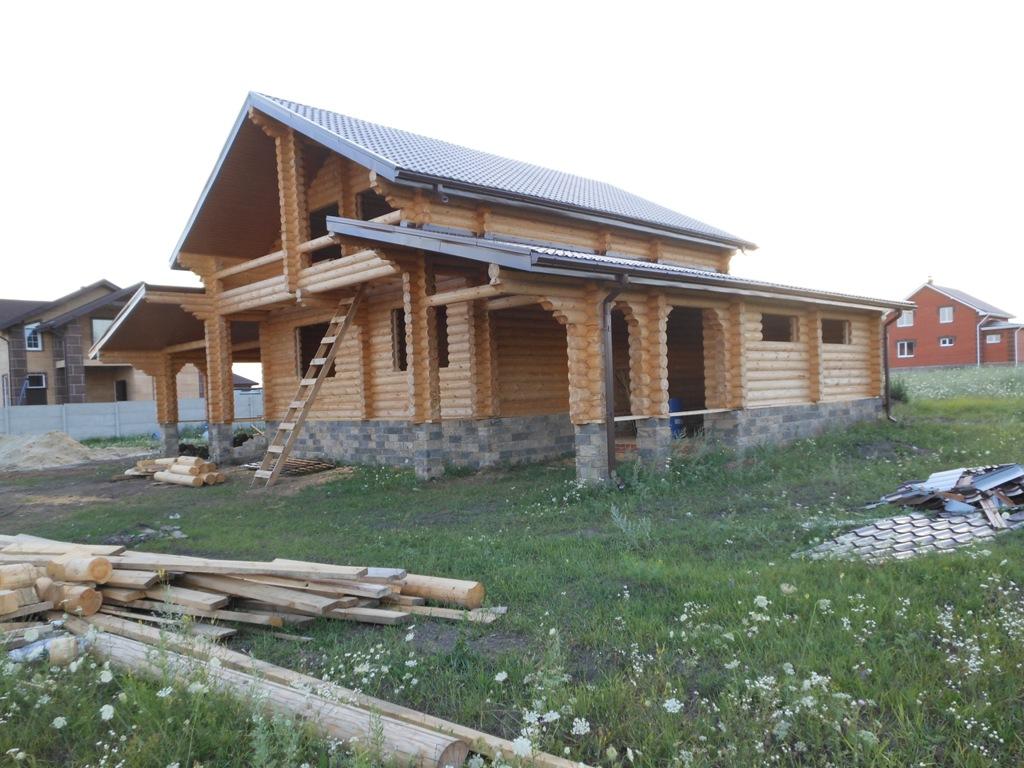 срубовой дом из бревна 11.5*17 метра в Клину.