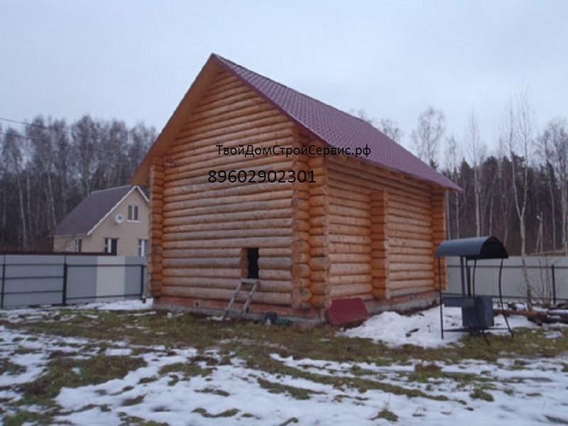 дом из сруба 9*8 в чашу, построен в Туле, изготовлен в Вожеге, ТвойДомСтройСервис.