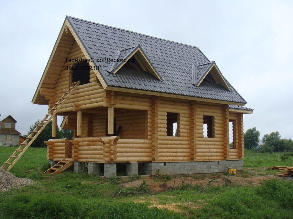 дом из оцилиндрованного бревна Вожега