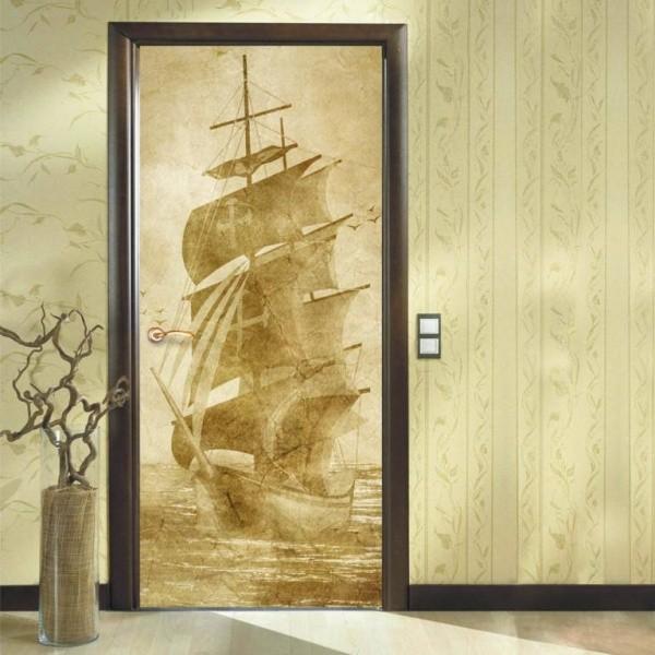 Как обклеить дверь самоклеящейся пленкой