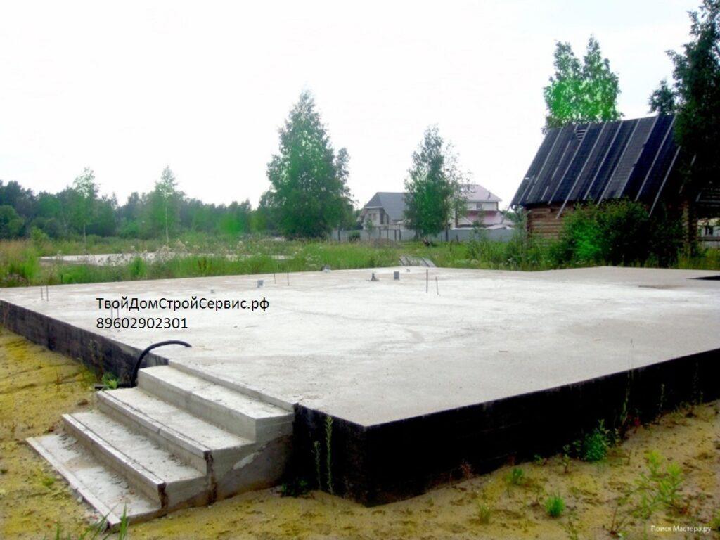 готовый фундамент для сруба дома от компании ТвойДомСтройСервис из Вожеги.