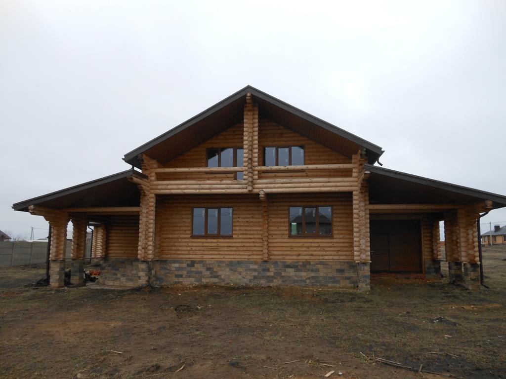 Проект бревенчатого дома семейный 11,5x117м