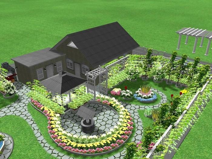 планировка участка для дома из бревна, от компании ТвойДомСтройСервис.