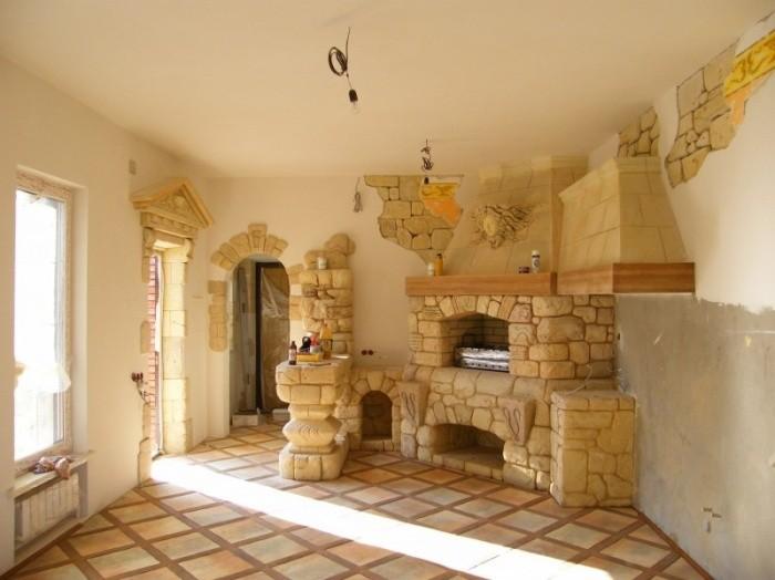 печь в доме в Серпухове