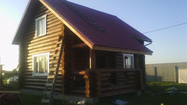 строительство сруба дома 7*6