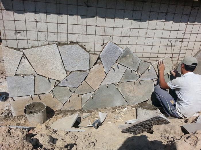 Как работать с искусственным камнем
