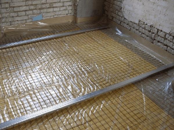 Укладка пеноплекса на пол под стяжку