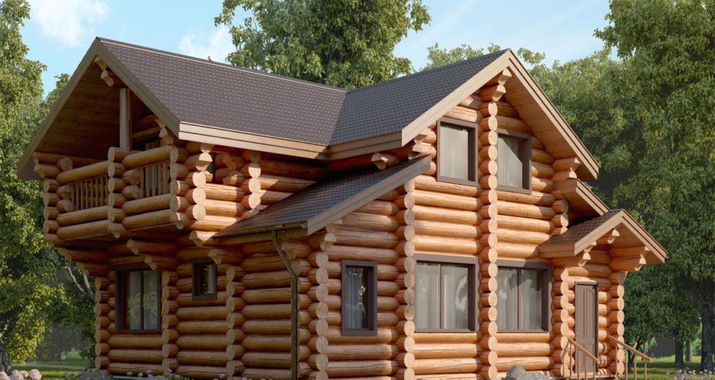 Проект бревенчатого дома Ямской 9х11м