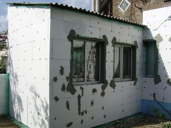 Технология утепления фасадов пенопластом