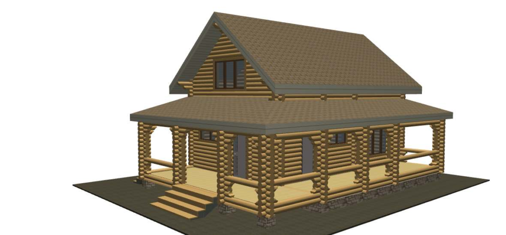 проект бревенчатого дома ТвойДомСтройСервис