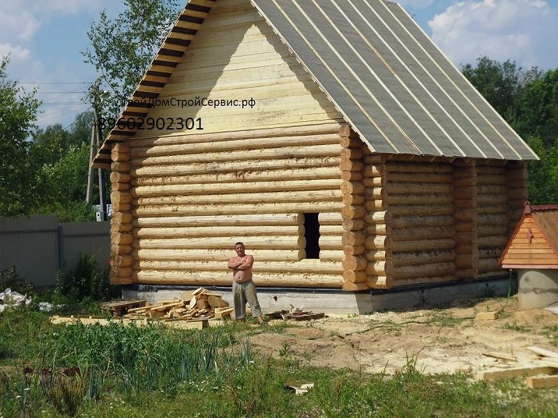 бревенчатый дом 6*6 метра ТвойДомСтройСервис