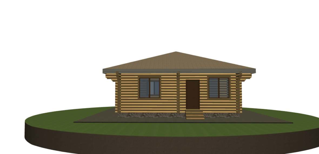 Проект бревенчатого дома 9,8х8,3 м