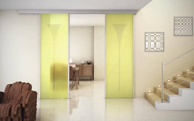 Раздвижные межкомнатные двери стеклянные