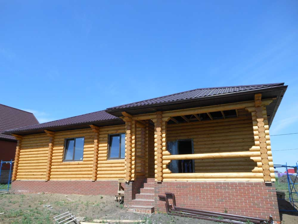 проект бревенчатого дома 11*15 метра