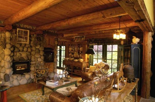 Дизайн интерьера деревенского дома своими руками