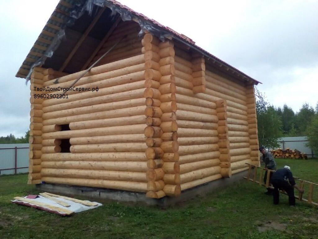 дом из сруба 5*8 метра в чашу Вожега