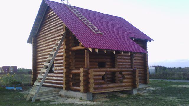 строительство сруба дома 7*6 метра Вожега
