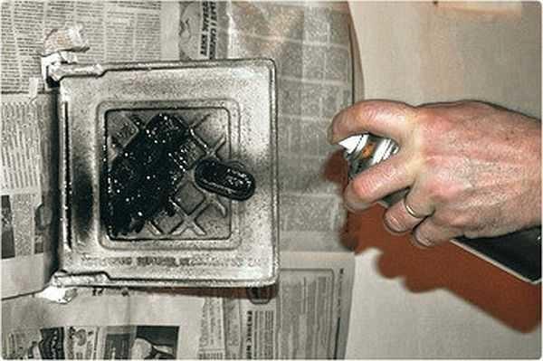 Покраска печи водоэмульсионной краской