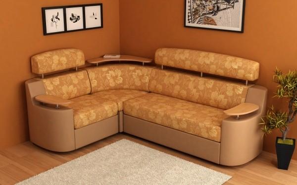 Угловые диваны в интерьере гостиной