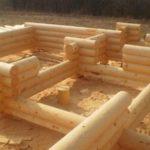 Проект бревенчатого дома Родной 7,6x6,8 м