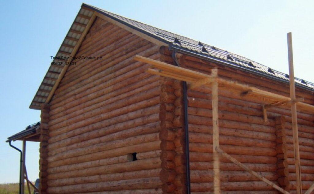 дом срубовой в чашу 9*8 метра, изготовлен компанией ТвойДомСтройСервис.