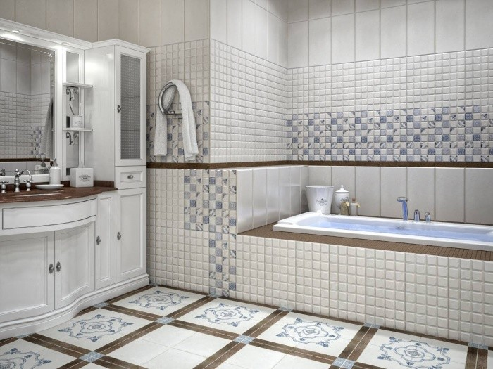 ванная в доме из бревна