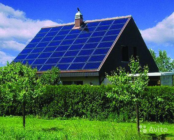 дом с установкой солнечных панелей