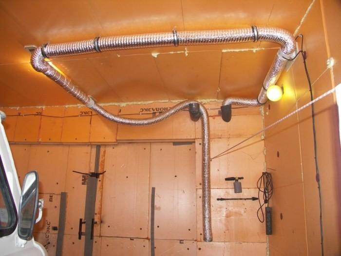 Вентиляция в овощной яме в гараже