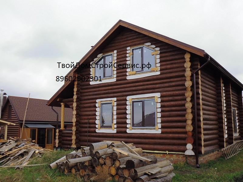 строительство дома из бревна в Белгороде, дома из сруба