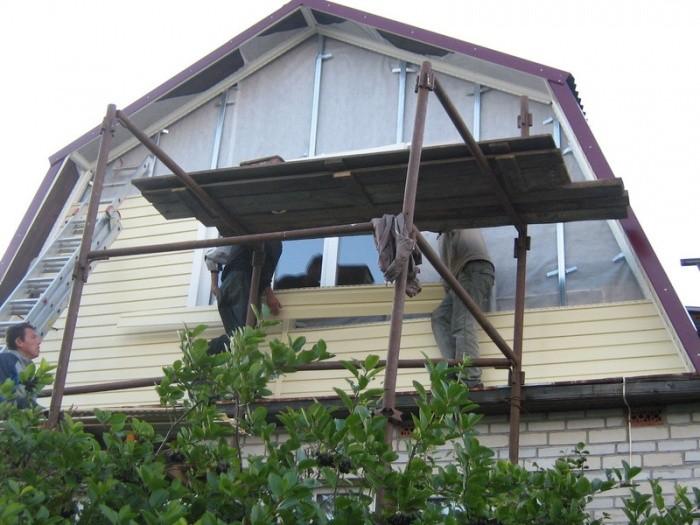 Отделка фронтонов частных домов