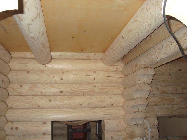 монтаж потолочных балок в срубе 10*10 метра, ТвойДомСтройСервис.