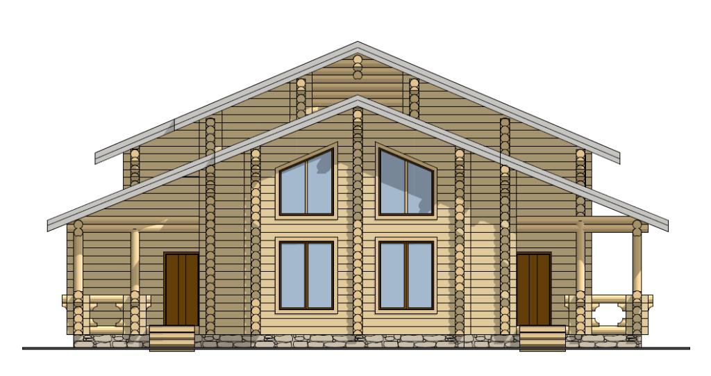 срубовой дом из бревна из оцилиндрованного бревна изготовлен в Вожеге