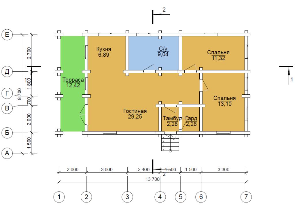 проект бревенчатого дома Арагон