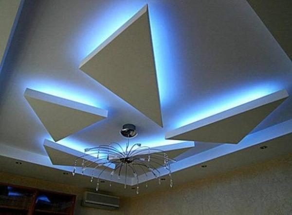 Дизайн потолка в зале с фото