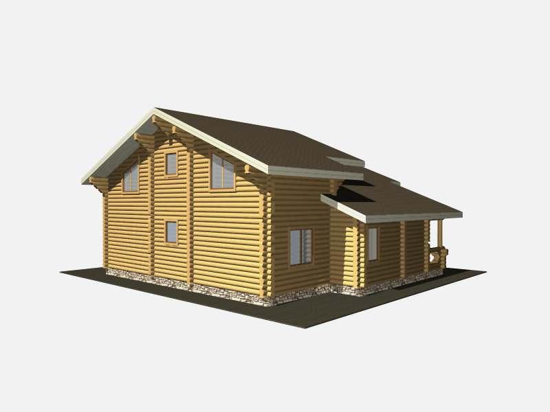 дом бревенчатый из бревна ручная рубка изготовлен в Вожеге