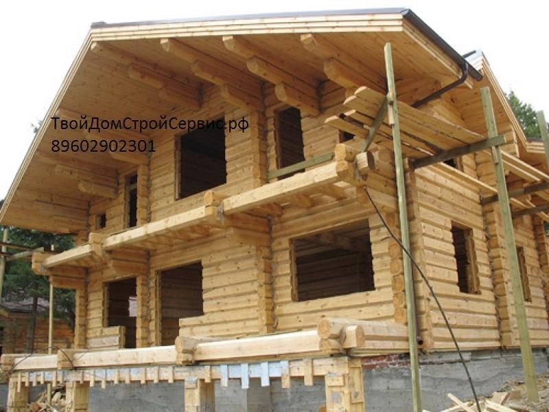 бревенчатый дом из лафета, изготовленный в Вожеге