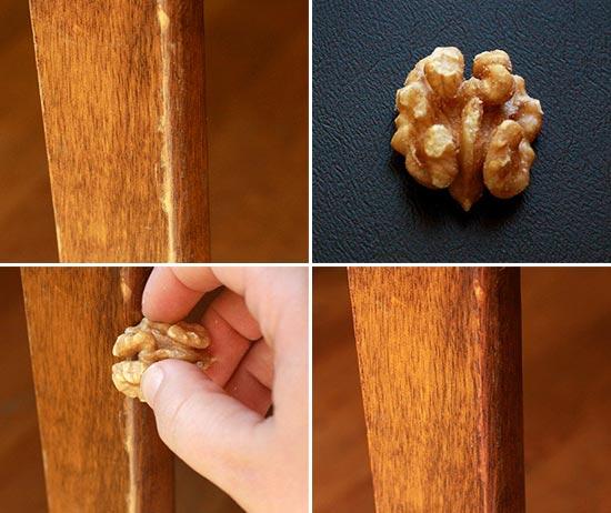 Чем и как убрать царапины на мебели