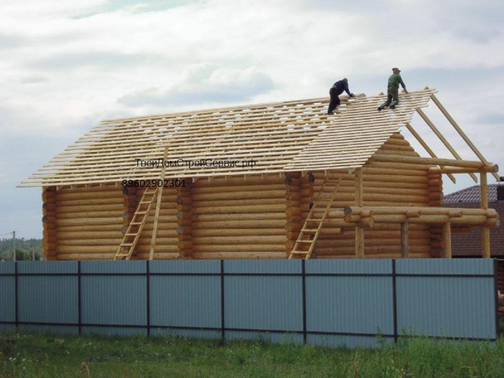 Рубленый дом в чашу 14х8,5 метра Белгород
