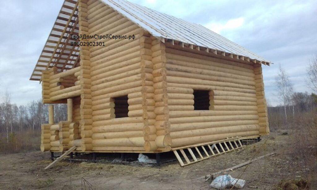 проект строения дома 6*10 в чашу