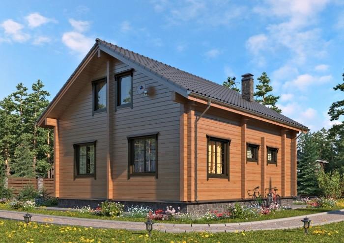 дом из сруба, для участка, построен в Туле